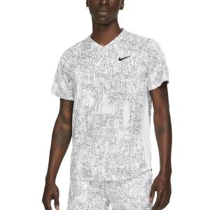 Maglietta Tennis Uomo Nike DriFIT Print Maglietta  White/Black CV7858100