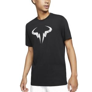 Camisetas de Tenis Hombre Nike DriFIT Rafa Clay Camiseta  Black/White DD2248010