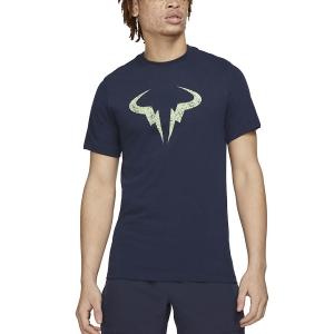 Camisetas de Tenis Hombre Nike DriFIT Rafa Clay Camiseta  Obsidian/Lime Glow DD2248451