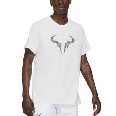 Nike Dri-FIT Rafa Clay T-Shirt - White/Obsidian