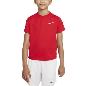 Tennis Polo and Shirts Nike Court DriFIT Victory TShirt Boy  University Red/White CV7565657