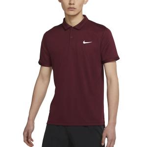Polo Tennis Uomo Nike DriFIT Victory Polo  Dark Beetroot/White CW6849638