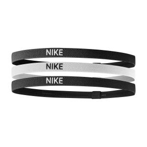 Tennis Headbands Nike Elastic x 3 Headbands  Black/White N.JN.04.036.OS