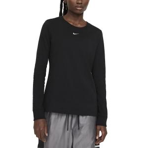 Maglie e Felpe Tennis Donna Nike Essential Maglia  Black/White DC9833010