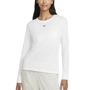 Maglie e Felpe Tennis Donna Nike Essential Maglia  White/Black DC9833100