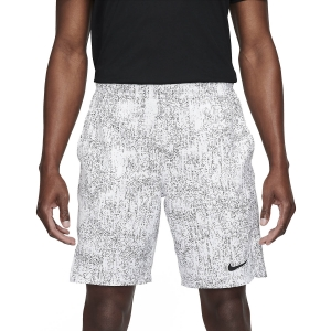 Men's Tennis Shorts Nike Flex Victory 9in Shorts  White/Black CV2974100