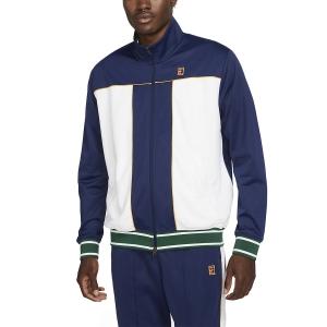 Men's Tennis Jackets Nike Heritage Jacket  Binary Blue/White/University Gold DC0620429