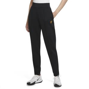 Women's Tennis Pants and Tights Nike Heritage Knit Pants  Black DA4722010