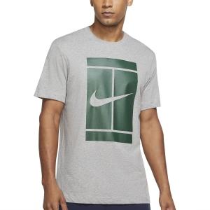 Men's Tennis Shirts Nike Iconic Court TShirt  Dark Grey Heather DJ2594063