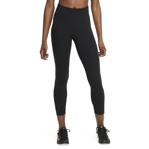 Women's Tennis Pants and Tights Nike One Mid Rise 7/8 Tights  Black/White DD0249010