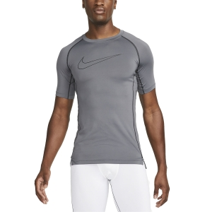 Men's Tennis Shirts Nike Pro Logo TShirt  Iron Grey/Black/Black DD1992068