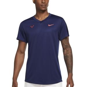 Maglietta Tennis Uomo Nike Rafa Challenger Maglietta  Binary Blue/Chile Red CV2572429