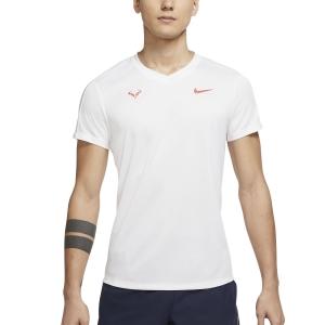 Maglietta Tennis Uomo Nike Rafa Challenger Maglietta  White/Chile Red CV2572101