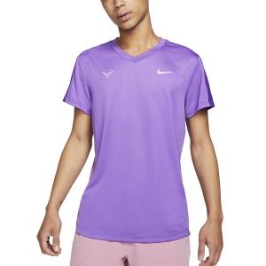 Maglietta Tennis Uomo Nike Rafa Challenger Maglietta  Wild Berry/Elemental Pink CV2572528