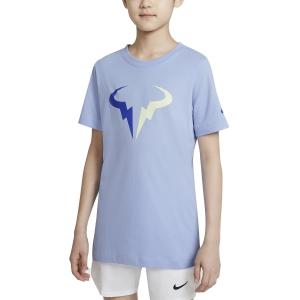 Tennis Polo and Shirts Nike Rafa DriFIT TShirt Boy  Aluminum DJ2591468