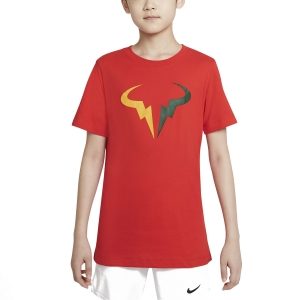 Tennis Polo and Shirts Nike Rafa DriFIT TShirt Boy  Chile Red DJ2591673