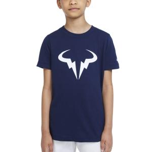Tennis Polo and Shirts Nike Rafa DriFIT TShirt Boy  Obsidian DJ2591451