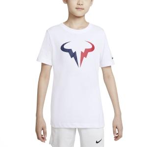 Tennis Polo and Shirts Nike Rafa DriFIT TShirt Boy  White DJ2591100