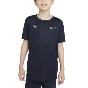 Polo y Camisetas de Tenis Nike Rafa Camiseta Nino  Obsidian/White DD2304451