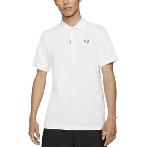 Polo Tennis Uomo Nike Rafa Slim 2.0 Polo  White/Black CV2969100