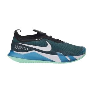 Scarpe Tennis Uomo Nike React Vapor NXT HC  Dark Teal Green/White/Black/Green Glow CV0724324