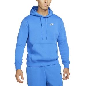 Men's Tennis Shirts and Hoodies Nike Sportswear Club Hoodie  Signal Blue/White BV2654403