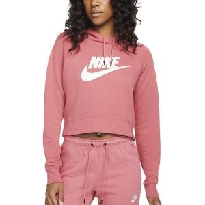 Camisetas y Sudaderas Mujer Nike Sportswear Essential Sudadera  Archaeo Pink/White CJ6327622