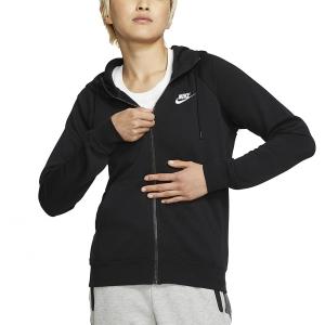 Maglie e Felpe Tennis Donna Nike Sportswear Essential Felpa  Black/White BV4122010