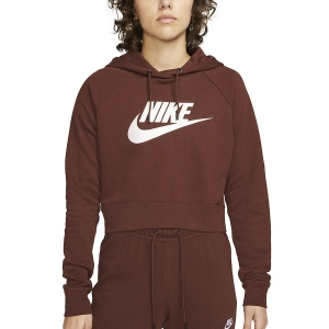 Maglie e Felpe Tennis Donna Nike Sportswear Essential Felpa  Bronze Eclipse/White CJ6327273
