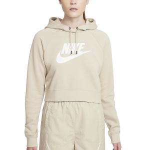 Maglie e Felpe Tennis Donna Nike Sportswear Essential Felpa  Rattan/White CJ6327206