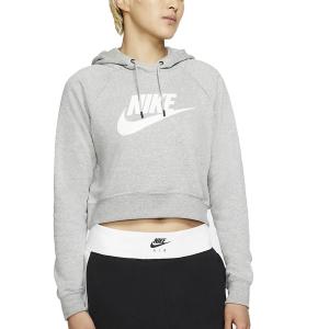 Maglie e Felpe Tennis Donna Nike Sportswear Essential Felpa  Dark Grey Heather/White CJ6327063