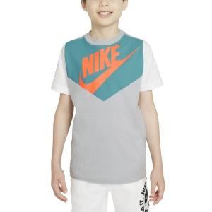 Tennis Polo and Shirts Nike Sportswear TShirt Boy  Wolf Grey/White DC7511012