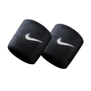 Tennis Wristbands Nike Swoosh Small Wristbands  Black/White N.NN.04.010.OS