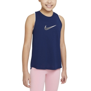 Top and Shirts Girl Nike Trophy Tank Girl  Blue Void/Arctic Punch DA1370492