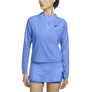 Maglie e Felpe Tennis Donna Nike Victory DriFIT Maglia  Aluminum/Black CV4697468