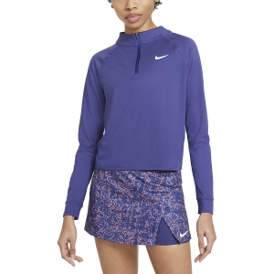 Women's Tennis Shirts and Hoodies Nike Victory DriFIT Shirt  Dark Purple Dust/White CV4697510