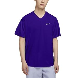 Maglietta Tennis Uomo Nike Victory Maglietta  Concord Black/White CV2982471