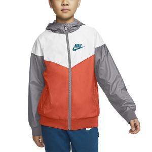 Chaquetas Boy Nike Windrunner Chaqueta Nino  Turf Orange/White/Wolf Grey/Aquamarine 850443842