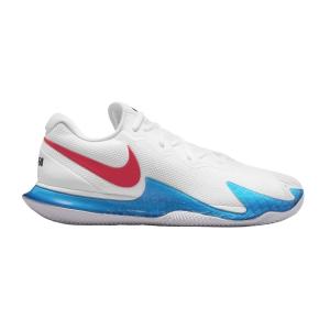 Calzado Tenis Hombre Nike Air Zoom Vapor Cage 4 Rafa Clay  White/Chile Red/Binary Blue DM2418113