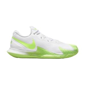 Calzado Tenis Hombre Nike Air Zoom Vapor Cage 4 Rafa Clay  White Lime/Glow Obsidian DH1312100