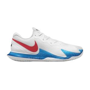 Calzado Tenis Hombre Nike Air Zoom Vapor Cage 4 HC Rafa  White/Chile Red/Binary Blue DD1579113