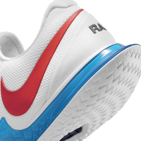Nike Air Zoom Vapor Cage 4 HC Rafa - White/Chile Red/Binary Blue
