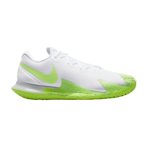Calzado Tenis Hombre Nike Air Zoom Vapor Cage 4 Rafa HC  White Lime/Glow Obsidian DD1579100