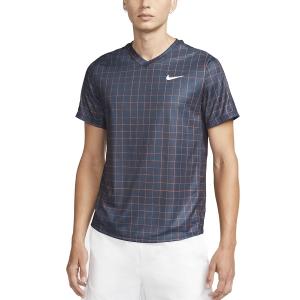 Men's Tennis Shirts Nike Court DriFIT Victory Print TShirt  Obsidian/White DA4398451