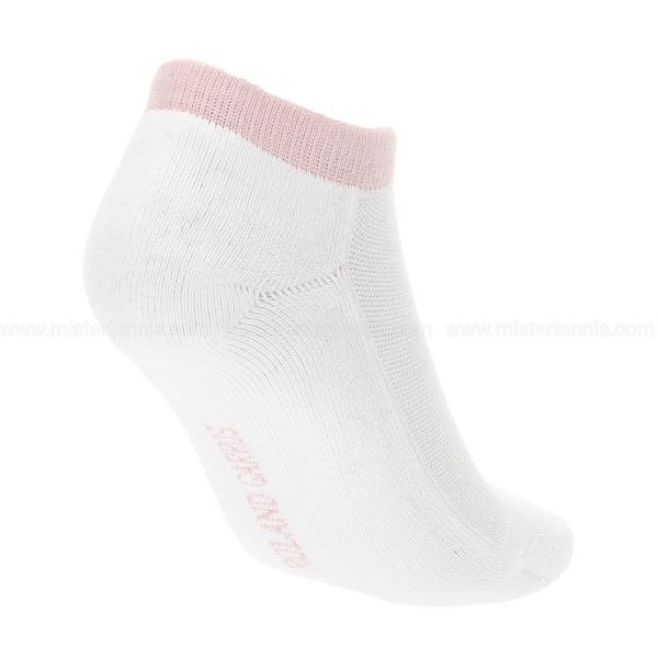 Roland Garros Performance x 2 Socks - White/Pink