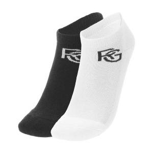 Tennis Socks Roland Garros Performance x 2 Socks  White/Black RGHS1321MLT