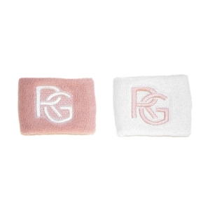 Tennis Wristbands Roland Garros Performance Small Wristbands  White/Pink RGHS0821ROS