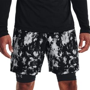 Pantalones Cortos Tenis Hombre Under Armour Adapt 8in Shorts  Black/White 13614360002