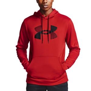 Men's Tennis Shirts and Hoodies Under Armour Big Logo Print Hoodie  Red/Black 13570850600