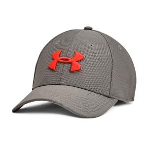 Tennis Hats and Visors Under Armour Blitzing 3.0 Cap  Concrete/Phoenix Fire 13050360066